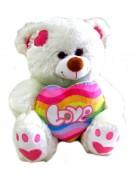 Kuschelbär Rainbow mit Herz 30cm