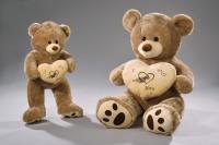 Bär mit Herz braun/creme 80/120cm