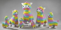 Alpaka 55cm Rainbow-Lammplüsch