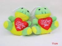 Frosch mit Herz 11cm