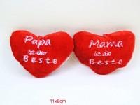 Herz 11x8cm Mama,Papa ist der Beste