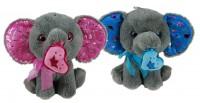 Elefant mit Herz 25cm 2-fach sortiert