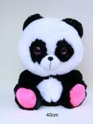 Comic Panda 40cm sitzend Glitzerauge