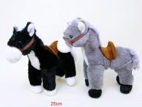 Pferd 25cm mit Sattel stehend 2-fach sortiert