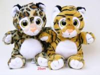 Wildtiere Tiger/Leopard 25cm sortiert
