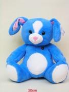 Hase 30cm blau