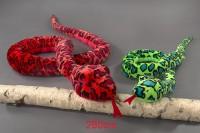 Schlange Glitzerauge 280cm 3 Farben sortiert