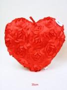 Herz 35cm mit Rosen pink/rot sortiert