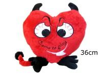 Herz Teufel mit Hörnern 36cm