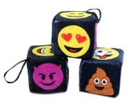 Würfel schwarz 7cm Emojis sortiert