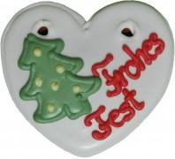 Herz Weihnachten glasiert 40gr 1007