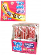 Lolli Twister Two to one Erdbeer/Kirsch 12 Stück