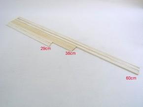 Zuckerwattestäbe eckig 29cm 5000 Stück