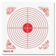 Schießscheibe 12er Ring 11cm  rot