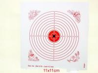 Schießscheibe 12er Ring mit Loch 4,5mm 11cm
