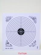 Schießscheibe 12er Ring 11cm schwarz 1000 Stück