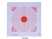 Schießscheibe 12er Ring 12cm rot