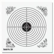 Schießscheibe 12er Ring 12cm schwarz