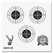 Schießscheibe 3 Ringe 12cm schwarz