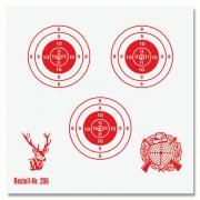 Schießscheibe 3 Ringe 12cm rot