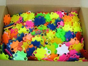 Abschieß-Sterne A farbig 1000 Stück