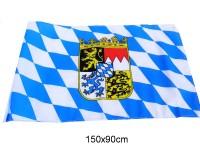 Fahne Bayern/Wappen 90x150cm mit 2 Ösen