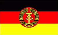 Fahne DDR 90x150cm mit 2 Ösen